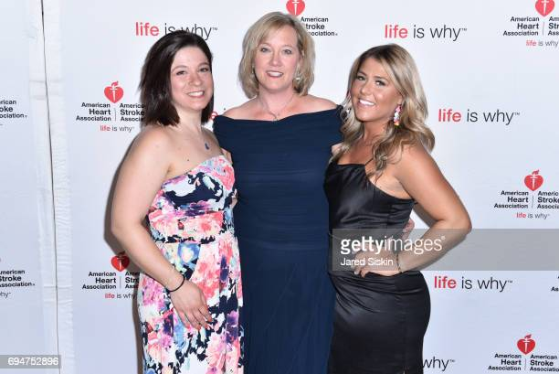 Barbara Poliwoda and Alexis Latino attend the 21st Annual Hamptons Heart Ball at Southampton Arts Center on June 10 2017 in Southampton New York