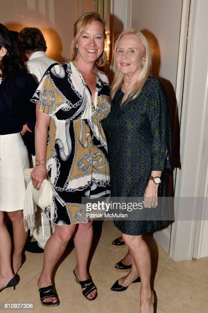 Barbara Poliwoda and Cornelia Bregman attend Katrina and Don Peebles Host NY Mission Society Summer Cocktails at Private Residence on July 7 2017 in...