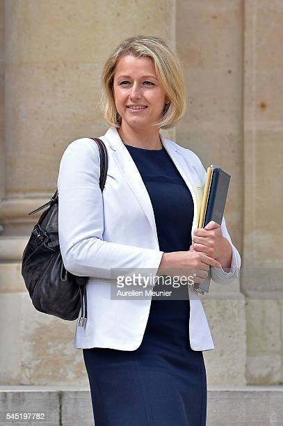 Barbara Pompili Secretary of State in charge of Biodiversity leaves the Elysee Palace after the weekly cabinet meeting on July 6 2016 in Paris France