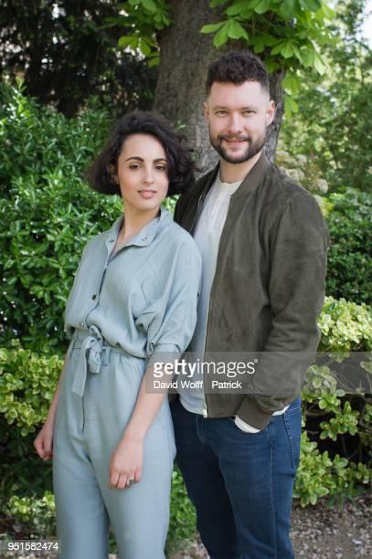 Barbara Pravi and Calum Scott are posing for portrait session at Yoyo Palais De Tokyo on April 25 2018 in Paris France