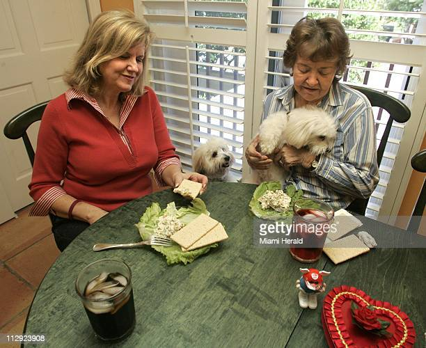Barbara Pruitt left got a visit from her mother Lorayne Melgaard who brought along Laci who wanted to say hello to Pruitt's pooch Cody