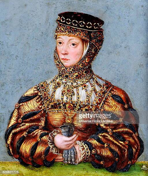 Barbara Radziwill 1520 – 1551, Queen of Poland and Grand Duchess of Lithuania as consort to Sigismund II Augustus. By Lucas Cranach the younger, 1553.