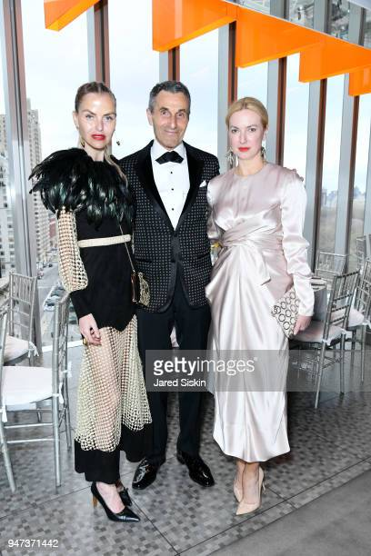 Barbara Regna Peter Regna and Polina Proshkina attend The Museum of Arts and Design Presents LOOT MAD About Jewelry on April 16 2018 at the Museum Of...