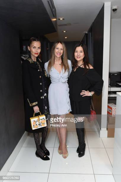 Barbara Regna Sara Johnson Kaplan and guest attend Tracy Stern hosts Princess Monika zu Lowenstein for charity fundraiser sponsored by Dr Natalya...