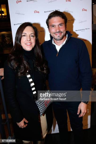 Barbara Rihl and founder of 'The French Publicist' Alexis SurreFenaille attend Reem Kherici signs her book 'Diva' at the Barbara Rihl Boutique on...