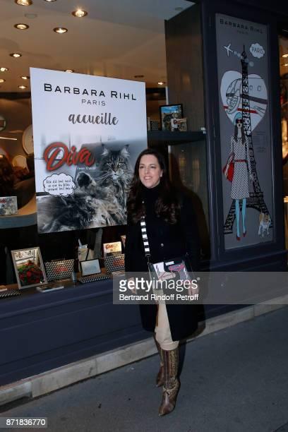 Barbara Rihl attends Reem Kherici signs her book 'Diva' at the Barbara Rihl Boutique on November 8 2017 in Paris France