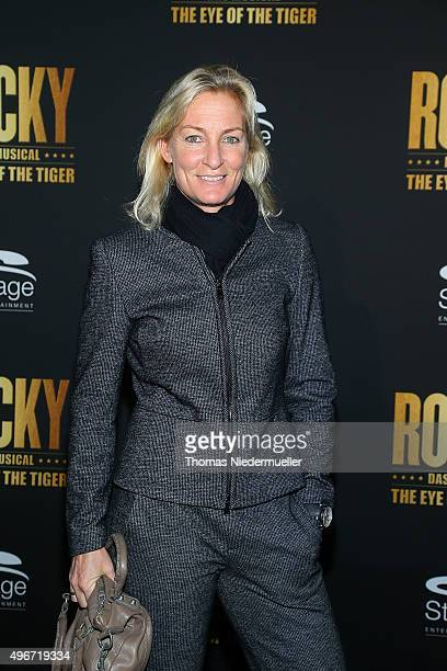 Barbara Rittner attends the black carpet prior to the premiere of the musical 'ROCKY - The Musical' at Stage Palladium Theater on November 11, 2015...