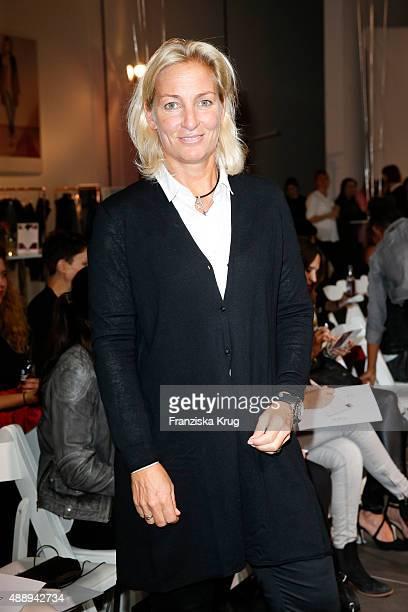 Barbara Rittner attends the 'La Boum Fashion Studio' by Soccx on September 18 2015 in Hoppegarten/ Berlin Germany