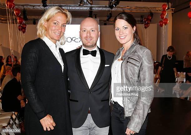 Barbara Rittner Chris Goetz and Kristina BroeringSprehe attend the 'La Boum Fashion Studio' by Soccx on September 18 2015 in Hoppegarten/ Berlin...