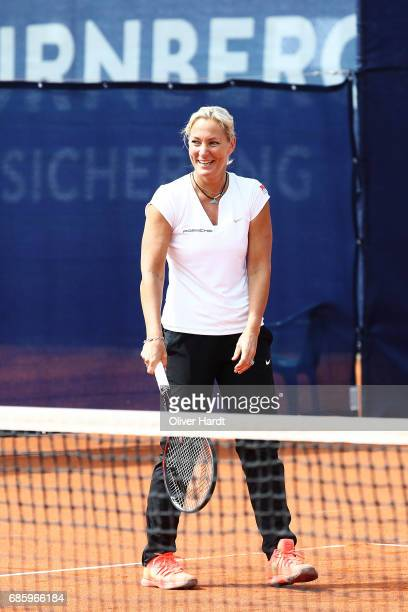 Barbara Rittner in action during the WTA Nuernberger Versicherungscup on May 20 2017 in Nuermberg Germany