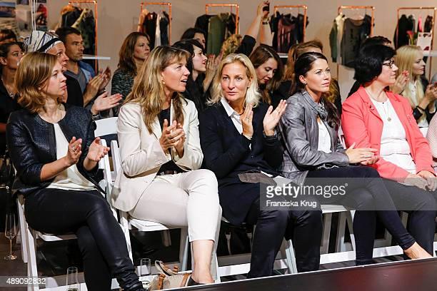 Barbara Rittner Kristina BroeringSprehe and guests attend the 'La Boum Fashion Studio' by Soccx in Hoppegarten on September 18 2015 Berlin Germany