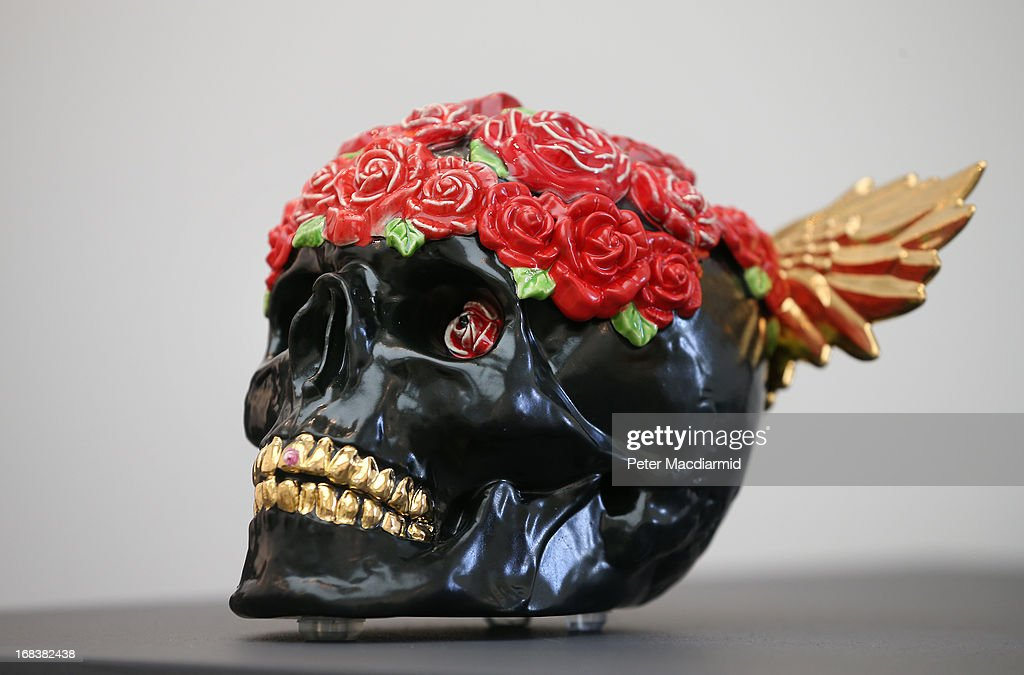 Barbara Roling's earthenware skull is shown at the Collect art fair at Saatchi Gallery on May 9, 2013 in London, England. Celebrating its 10th anniversary this year the Collect international art fair for contemporary objects, brings together galleries representing the work of numerous artists. Thirty two galleries and eleven Project Space artists will come together in the Saatchi Gallery from 10-13th May 2013.