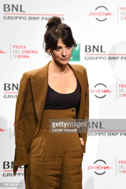 Barbara Ronchi attends the photocall of the movie Cosa Sarà during the 15th Rome Film Festival on October 24 2020 in Rome Italy