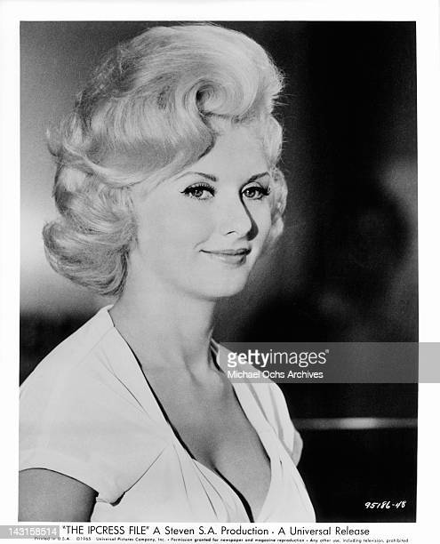 Barbara Roscoe plays the role of Rita a shapely blonde with a warm smile in a scene from the film 'The Ipcress File' 1965