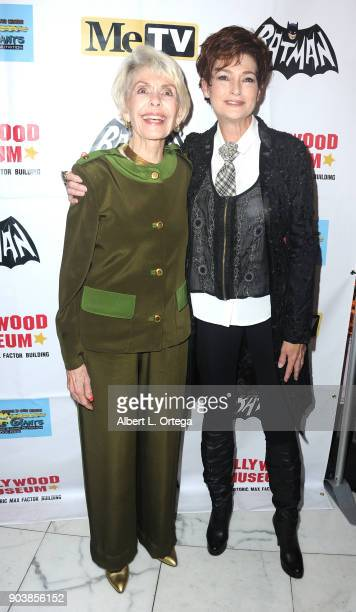 Barbara Rush and niece Carolyn Hennessy attend The Batman '66 Exhibit Opening held at The Hollywood Museum on January 10 2018 in Hollywood California