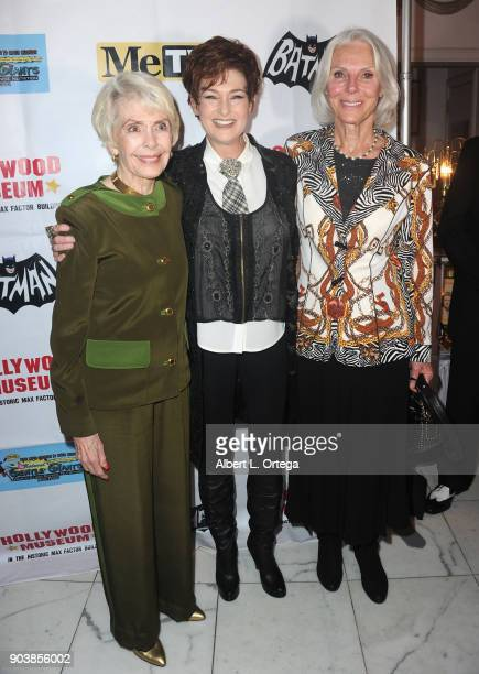Barbara Rush niece Carolyn Hennessy and Sivi Aberg attend The Batman '66 Exhibit Opening held at The Hollywood Museum on January 10 2018 in Hollywood...