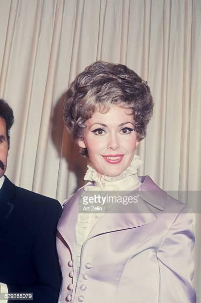 Barbara Rush wearing a lavender satin jacket circa 1970 New York