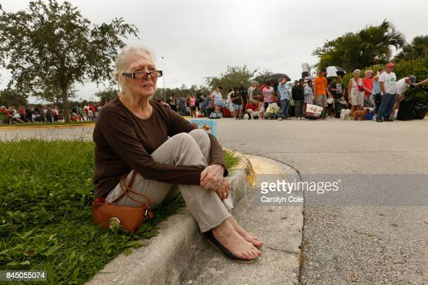 Barbara Sabol age 70 of Cape Coral waits to get into a shelter in Estero Florida She is from Cape Coral where she had to leave her cat She was...