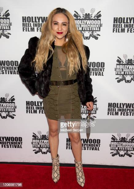 Barbara Sanchez arrives at A Dark Foe Film Premiere on February 15 2020 in Los Angeles California
