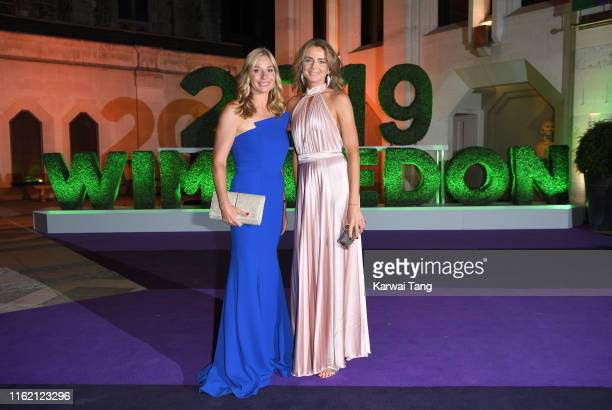 Barbara Schett and Daniela Hantuchova attend the Wimbledon Champions Dinner at The Guildhall on July 14 2019 in London England