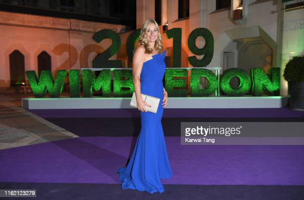 Barbara Schett attends the Wimbledon Champions Dinner at The Guildhall on July 14 2019 in London England