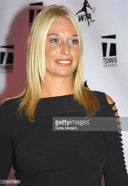 Barbara Schett during WTA Glam Slam New York City 2004 at Ruby Falls in New York City, New York, United States.
