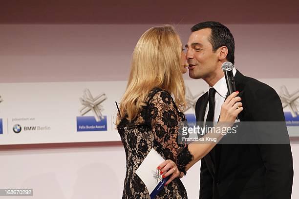 Barbara Schöneberger And Erol Sander at the 10th Anniversary Of The Felix Burda Award at Hotel Adlon in Berlin