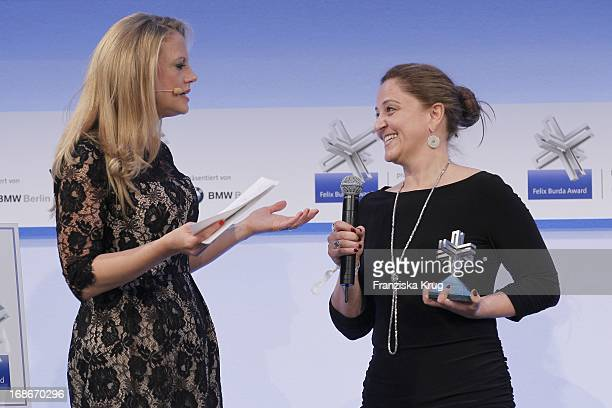 Barbara Schöneberger And Karin Steinberger at the 10th Anniversary Of The Felix Burda Award at Hotel Adlon in Berlin