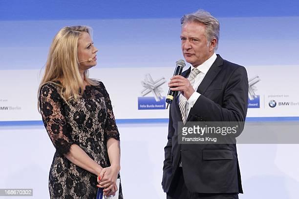 Barbara Schöneberger And Uli Baur at the 10th Anniversary Of The Felix Burda Award at Hotel Adlon in Berlin