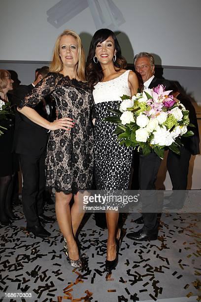 Barbara Schöneberger And Verona Pooth at the 10th Anniversary Of The Felix Burda Award at Hotel Adlon in Berlin
