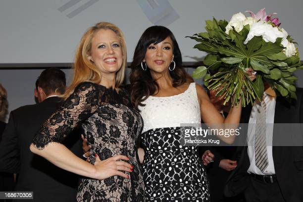 Barbara Schöneberger And Verona Pooth at the 10th Anniversary Of The Felix Burda Award at Hotel Adlon in Berlin