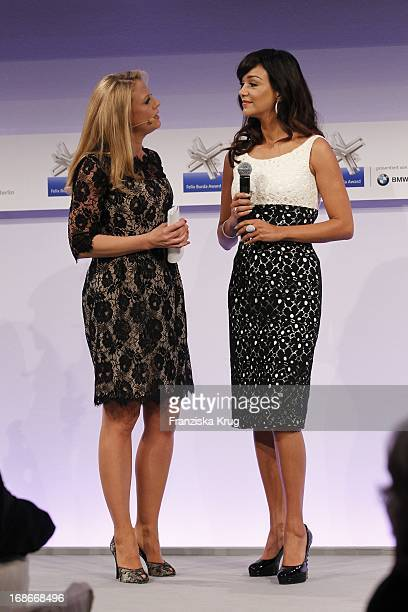 Barbara Schöneberger and Verona Pooth at the Felix Burda Award Ceremony Of The Hotel Adlon in Berlin