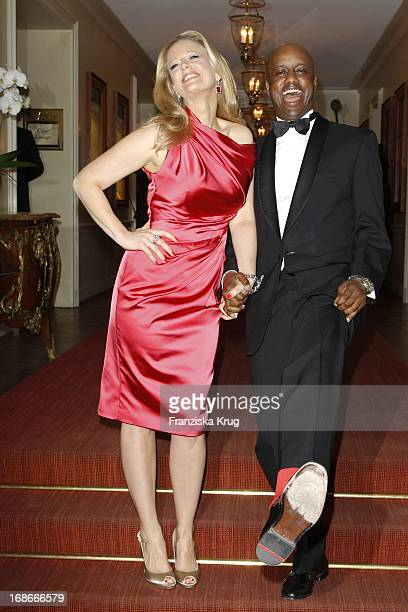 Barbara Schöneberger And Yared Dibaba at The Gala Spa Award at Brenners Park-Hotel & Spa in Baden Baden.