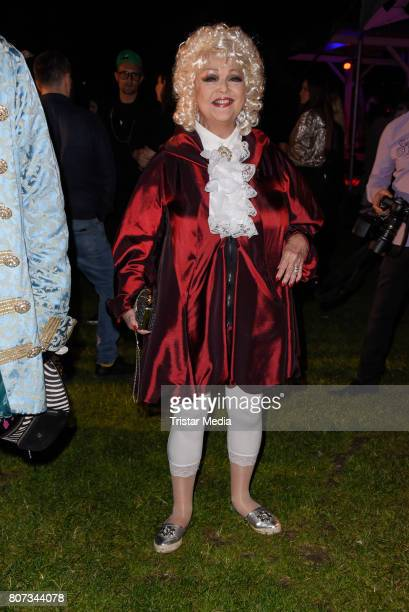 Barbara Schoene attends the Fashion Week Berlin Opening Night With Dandy Diary And Harald Gloeoeckler at Insel der Jugend on July 3 2017 in Berlin...