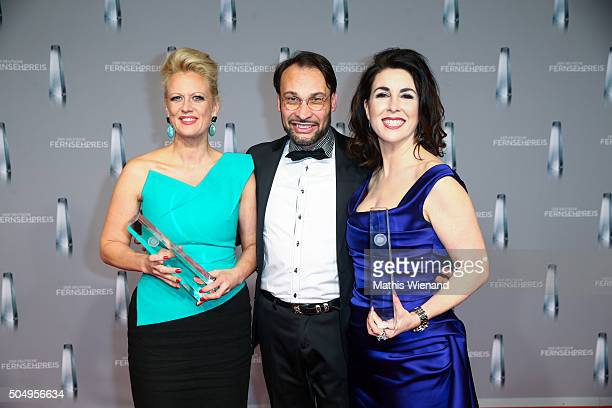Barbara Schoeneberger AlexanderKlaus Stecher and his wife Judith Williams present their award during attends the German Television Award at...