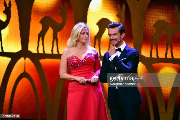 Barbara Schoeneberger and Florian Silbereisen on stage during the Bambi Awards 2017 show at Stage Theater on November 16 2017 in Berlin Germany