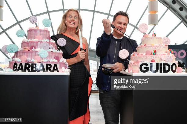 Barbara Schoeneberger and Guido Maria Kretschmer during the anniversary event for BARBARA and GUIDO at KaDeWe on October 21 2019 in Berlin Germany