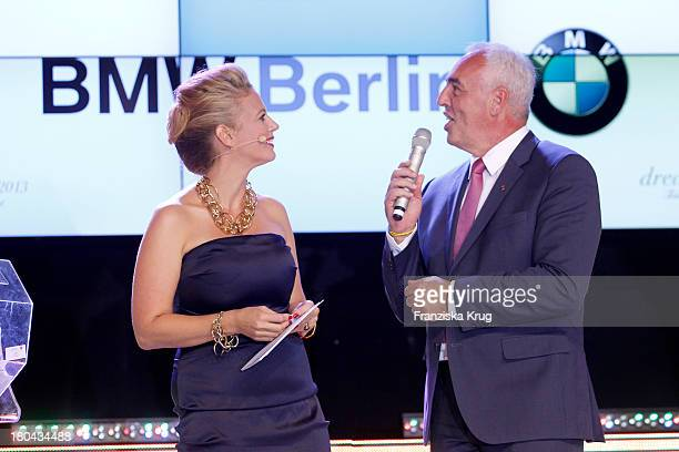 Barbara Schoeneberger and HansReiner Schroeder attend the Dreamball 2013 charity gala at Ritz Carlton on September 12 2013 in Berlin Germany
