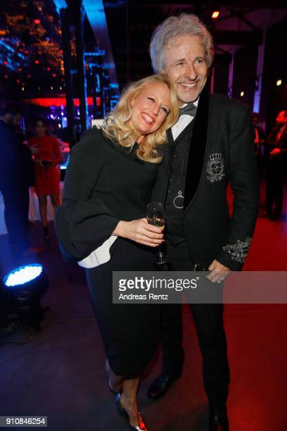 Barbara Schoeneberger and honorary award winner Thomas Gottschalk attend the German Television Award at Palladium on January 26 2018 in Cologne...