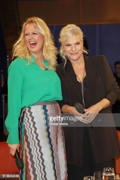 Barbara Schoeneberger and Ina Mueller during the NDR Talk Show on February 2 2018 in Hamburg Germany
