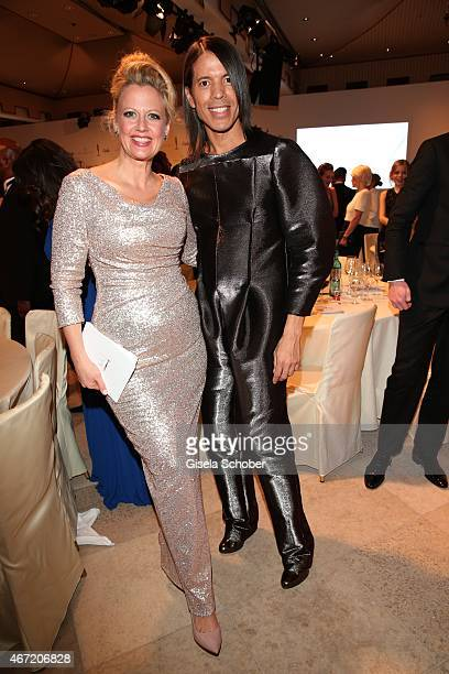 Barbara Schoeneberger and Jorge Gonzalez during the Gala Spa Awards 2015 at Brenners ParkHotel Spa on March 21 2015 in BadenBaden Germany