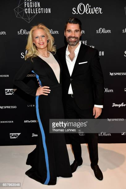 Barbara Schoeneberger and Managing Director Sales Mathias Eckert attend the s.Oliver THE FUSION COLLECTION Fashion Show at Festhalle on March 25,...