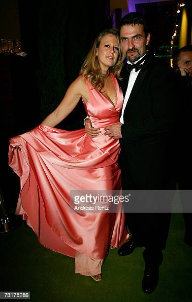 Barbara Schoeneberger and Mathias Krahl attend the after show party at the 42nd Goldene Kamera Award at the UllsteinArena on February 1 2007 in...