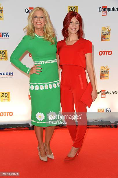Barbara Schoeneberger and Miss IFA Eva attend the Golden Computer Award on August 30 2016 in Berlin Germany