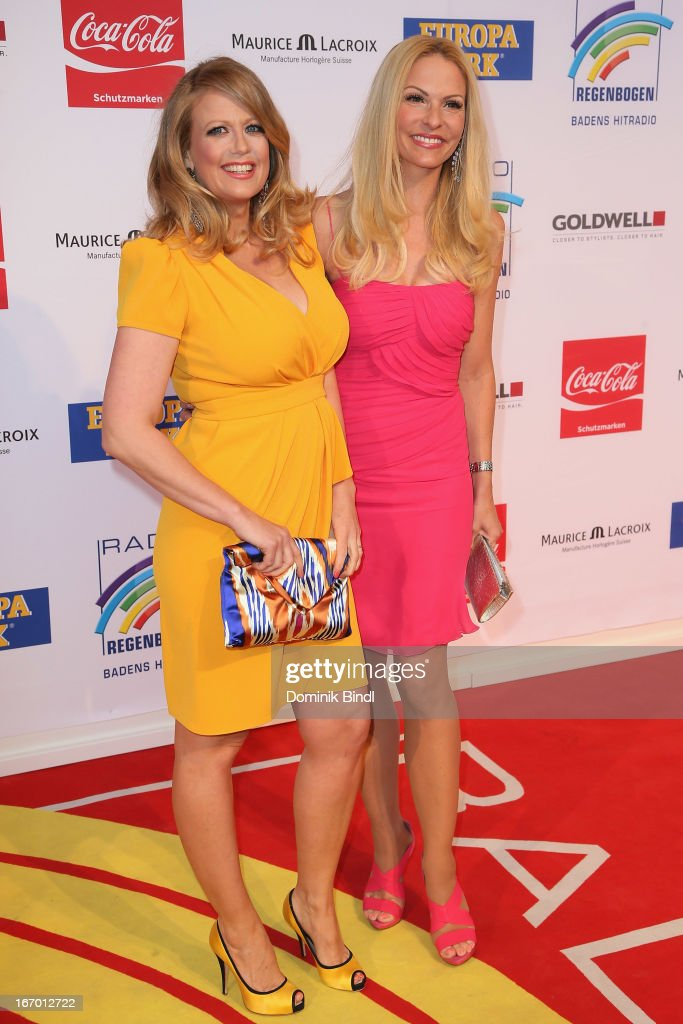 Barbara Schoeneberger and Sonya Kraus attend the Radio Regenbogen Award 2013 at Europapark on April 19, 2013 in Rust, Germany.