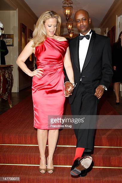 Barbara Schoeneberger and Yared Dibaba attend the Gala Spa Award at Brenner's Park Hotel on March 17, 2012 in Baden-Baden, Germany.