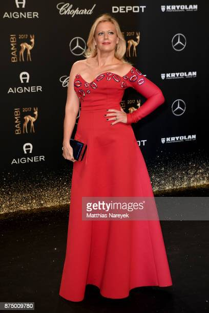 Barbara Schoeneberger arrives at the Bambi Awards 2017 at Stage Theater on November 16 2017 in Berlin Germany