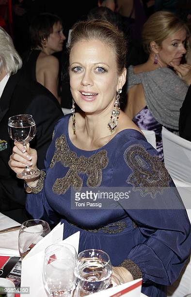 Barbara Schoeneberger attend the 37 th German Filmball 2010 at the hotel Bayrischer Hof on January 16 2010 in Munich Germany