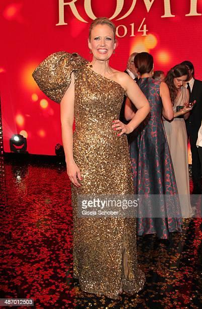 Barbara Schoeneberger attends the 25th Romy Award 2014 at Hofburg Vienna on April 26 2014 in Vienna Austria