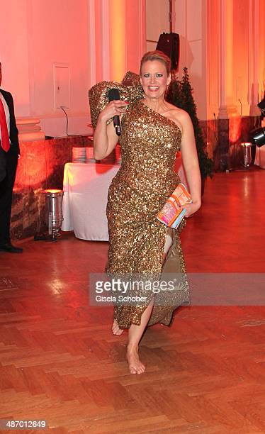 Barbara Schoeneberger attends the 25th Romy Award 2014 at Hofburg Vienna on April 26 2014 in Vienna Austria